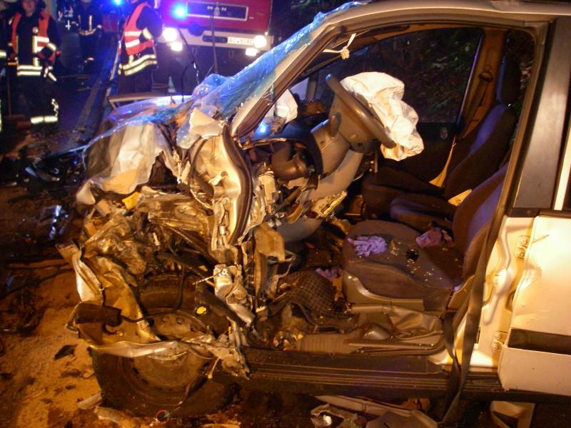 Montag, 04.12.2017 -Verkehrsunfall: Person klemmt 1-