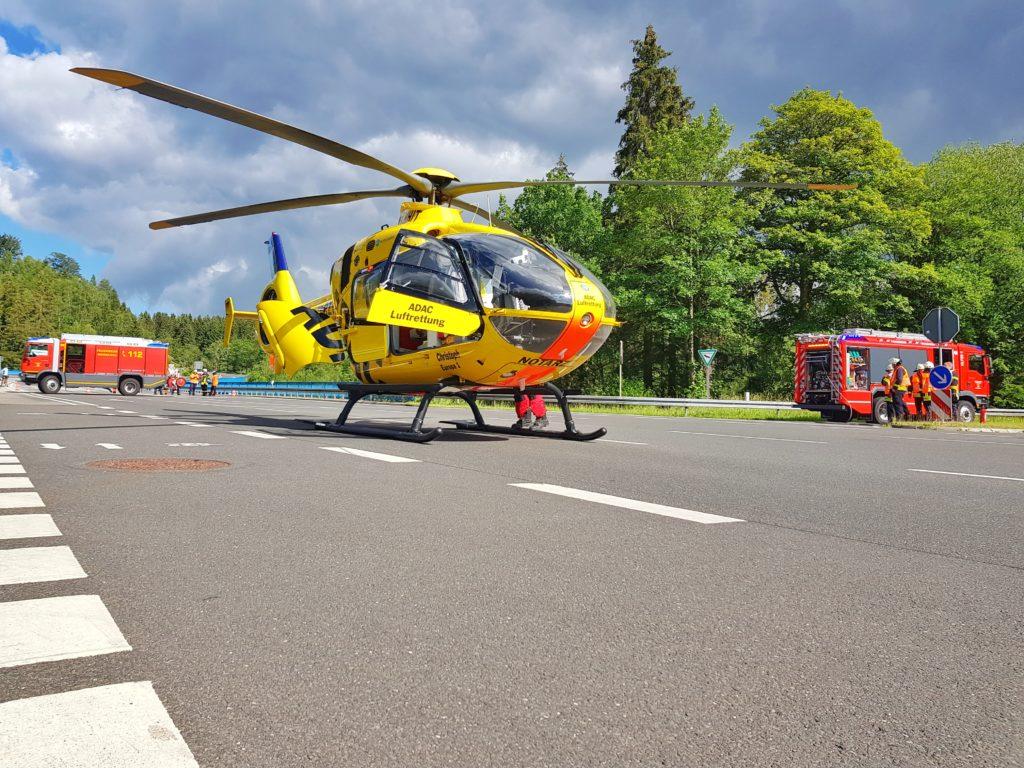 Montag, 06.07.2020 - Verkehrsunfall mit Hubschrauber-Landung